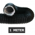 Flexibele ventilatieslang ongeïsoleerd - Zwart - Ø 100mm - Lengte 1 METER