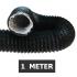 Flexibele ventilatieslang ongeïsoleerd - Zwart - Ø 160mm - Lengte 1 METER