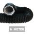 Flexibele ventilatieslang ongeïsoleerd - Zwart - Ø 150mm - Lengte 6 METER