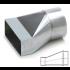 Verloopstuk Asymmetrisch van 170mm x 70mm naar rond Ø 125mm