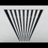 Instucbaar frameloos wandrooster - 300x100mm