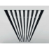 Instucbaar frameloos wandrooster - 400x100mm