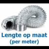 Niet-geïsoleerde aluminium flexibele slang Ø 127mm (binnenmaat) - PER METER