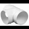 Kunststof T-stuk 90 graden - aansluitmaat Ø 125mm
