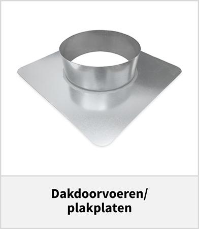 Dakdoorvoer-staal voor doorvoer spirobuis-platdak