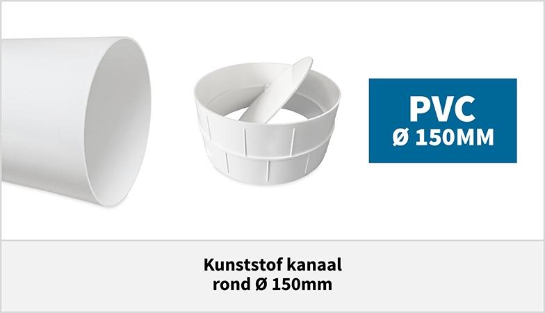 Kunststof ventilatiebuis 150mm PVC