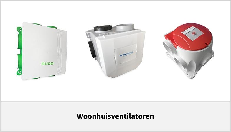 Woonhuisventilatoren voor uw gehele woning
